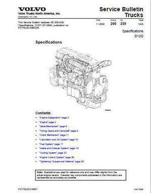 small engine repair manuals free download 2001 volvo s60 parking system volvo d12 specs bolt torques and manuals