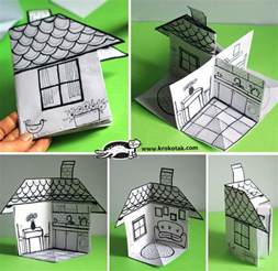 paper houses craft krokotak how to make a 3d paper house