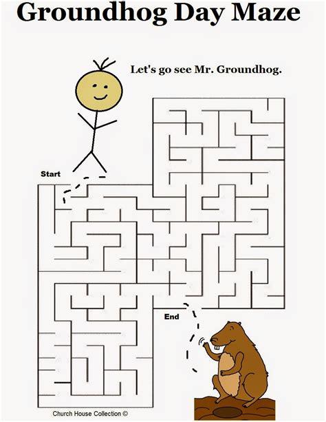groundhog day kindergarten worksheets groundhog day activities for preschool goundhog day mazes