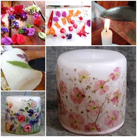 decoupage candles dried flower candles thewhoot