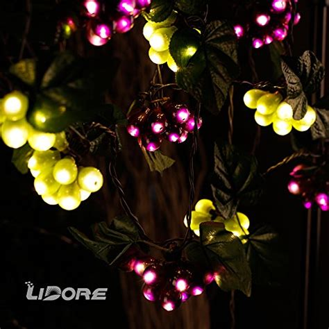 grapevine string lights lidore 100 led purple green grape string lights grapevine