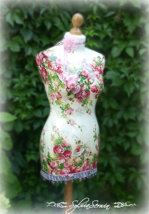 decoupage mannequin so shabby chic decoupaged mannequin for the