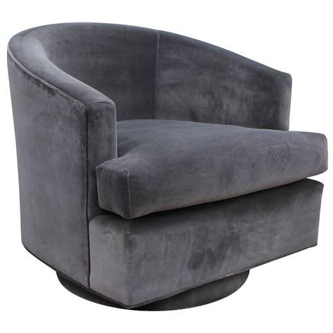 swivel chairs upholstered fabulous pair of fully upholstered barrel back grey swivel