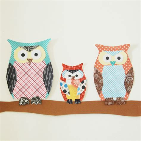 scrapbooking paper crafts paper owl family family crafts