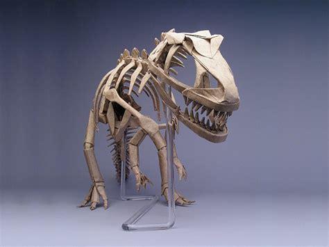 origami allosaurus origami master robert j lang allosaurus skeleton ah i