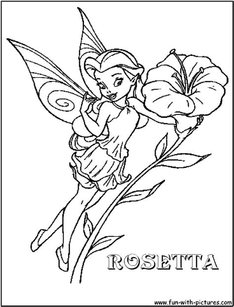 disney fairy rosetta coloring page disney fairies