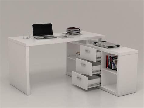 bureau d angle avec rangements aldric blanc bureau vente unique ventes pas cher