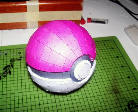 how to make a origami pokeball pokeball papercraft by disease of machinery on deviantart