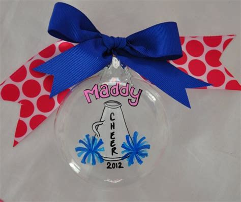 cheerleading crafts for cheer ornament personalized ornamnet by