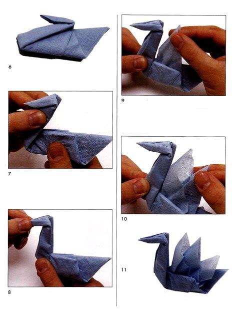 origami napkin swan swan from napkins scheme