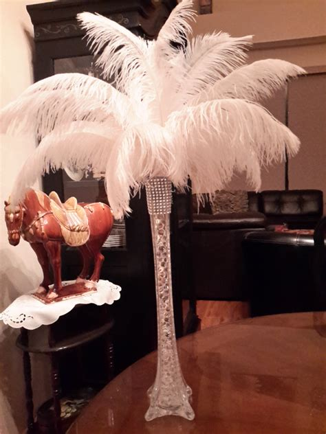 feathers for centerpieces ostrich feather centerpieces