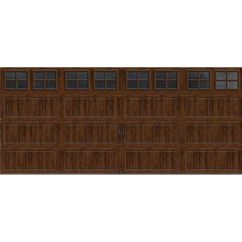 garage door panels home depot clopay gallery collection 8 ft x 7 ft 6 5 r value