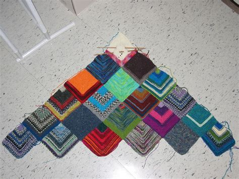 knitting patterns for leftover yarn how to make a sock yarn scrap blanket 4 steps with pictures