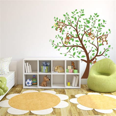 nursery monkey wall decals monkey nursery tree wall decal wall decal world