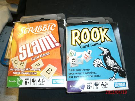 scrabble slam card rook scrabble slam card 2008 complete and barely