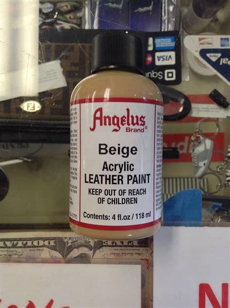 angelus paint vs angelus beige acrylic leather paint 4 fl oz jwong boutique