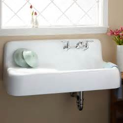 cast iron kitchen sink with drainboard 42 quot cast iron wall hung kitchen sink with drainboard ebay