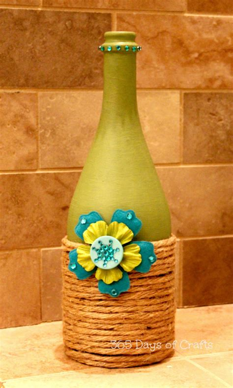 craft projects with wine bottles upcycled wine bottle home decor national craft month