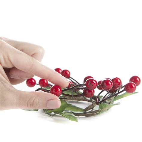 candle ring artificial winterberry candle ring candles and