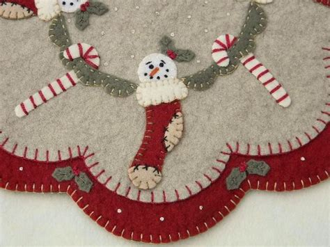 Penny Rugs Free Patterns by Penny Rug Candle Mat Christmas Stockings Pattern Ebay