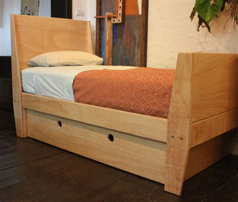 childs bed child s bed with storage in plywood sydney nathaniel grey