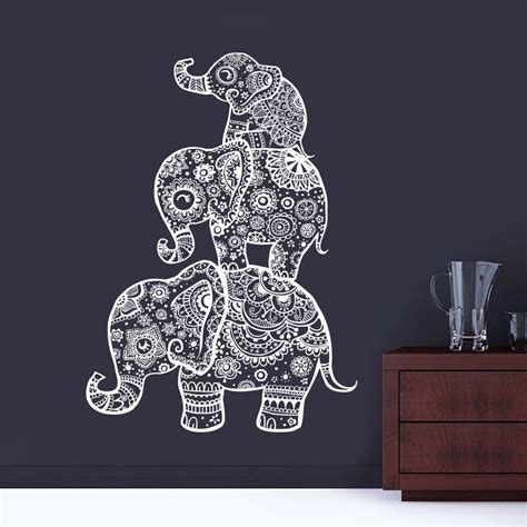 Wall Murals Stickers popular elephant mandala wall decals buy cheap elephant