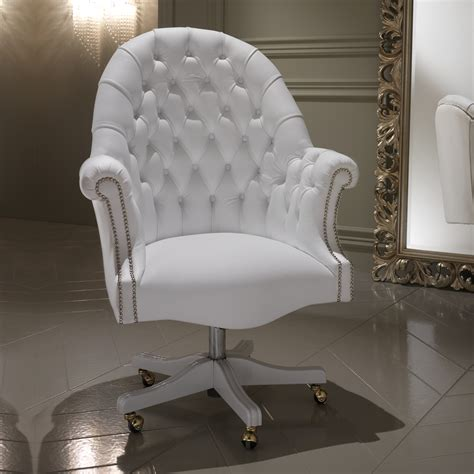 black and white desk chair white leather desk chair office furniture white leather
