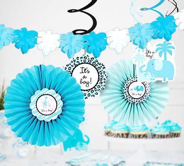 Safari Blue Baby Shower City by Baby Shower Decorations Decoration Ideas Baby Shower