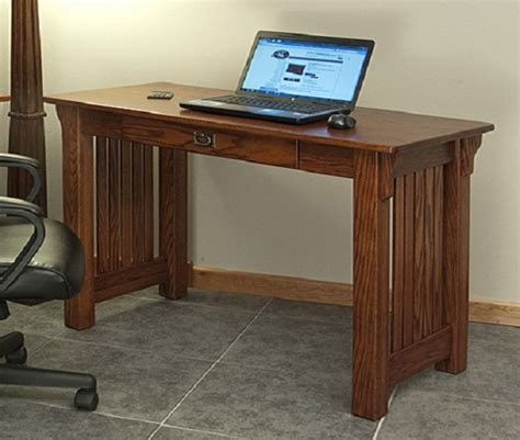 style office desk mission style solid oak office computer desk 55 quot the