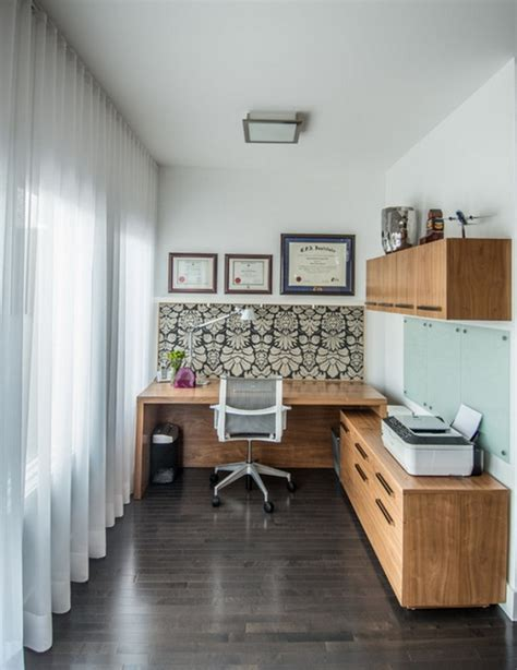 small office interior design pictures chic small home office with abstract wallpaper