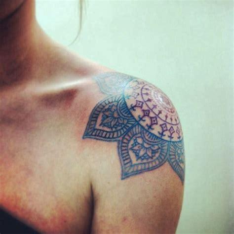 shoulder mandala tattoos