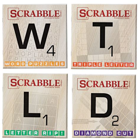 scrabble book of words scrabble puzzle books set of 10 word puzzles
