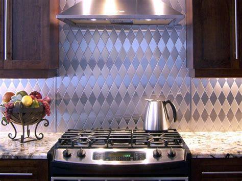 stainless steel backsplash kitchen metal tile backsplashes hgtv