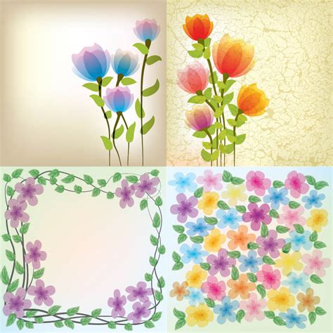 flowers for cards abstract floral cards vector 2 vector graphics