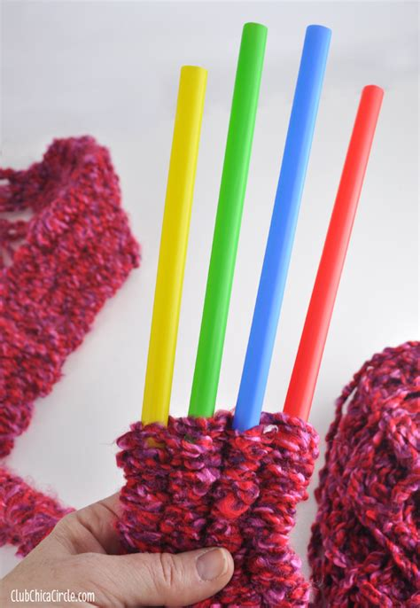 knitting crafts for how to knit with straws crafts