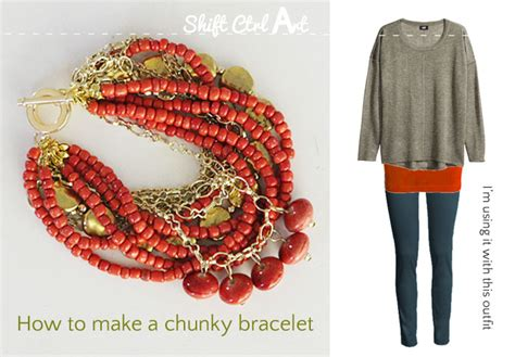 how to make chunky jewelry make a chunky bracelet with and chains