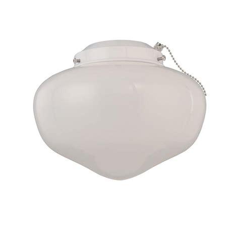home depot ceiling fan light kits westinghouse 1 light white schoolhouse glass ceiling fan