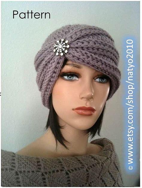 how to knit a turban hat instant turban style rhinestone beanie