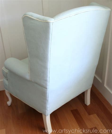 chalk paint upholstered chair painted upholstered chair makeover chalk paint artsy