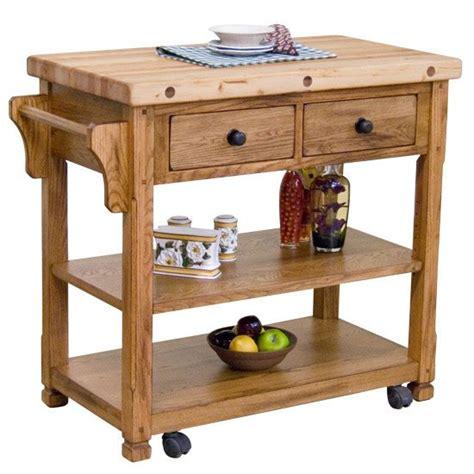 rustic kitchen islands and carts rustic oak butcher block kitchen island cart oak kitchen island cart