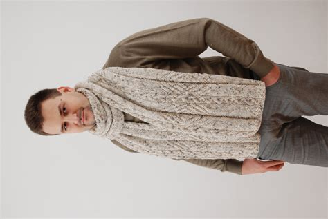 mens knit scarf mens scarf chunky wool scarf knit scarf