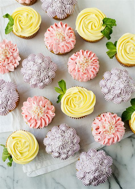 How To Do Birthday Decoration At Home flower cupcakes roses zinnias and hydrangeas baked bree