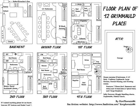 floor plan of 12 grimmauld place mischief managed