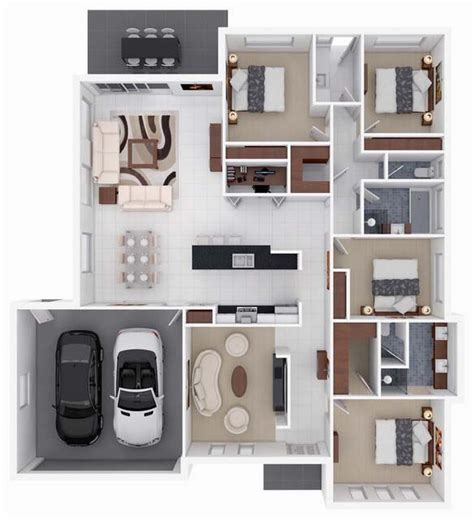 Best Small Home Floor Plans 17 best ideas about 4 bedroom apartments on pinterest