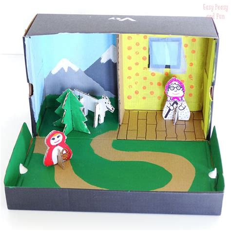 shoe box craft projects image gallery story crafts