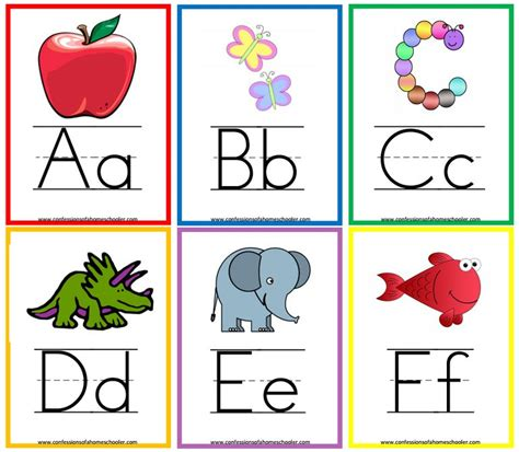 flash cards 13 sets of free printable alphabet flash cards