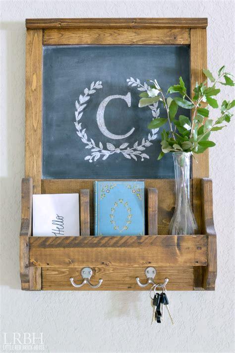 diy chalkboard mail organizer wall organizer with chalkboard brick house
