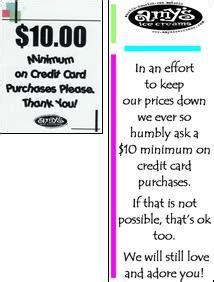 how to make purchases without a credit card update requiring minimum credit card purchases is a