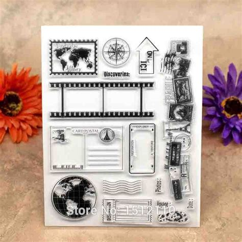 clear rubber sts for card aliexpress buy scrapbook diy photo cards account