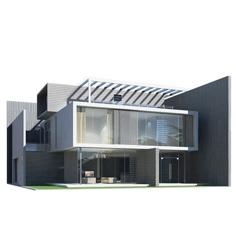 house design 3d free modern house 3d model max obj 3ds fbx cgtrader